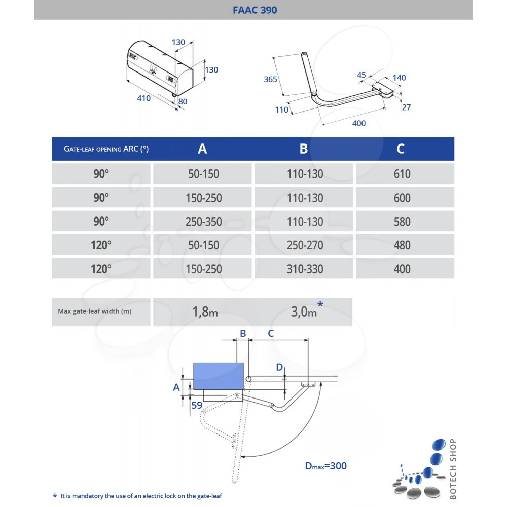 faac 390 230v swing gate motor 390 (230v) swing gate motor faac photocell wiring diagram at couponss.co